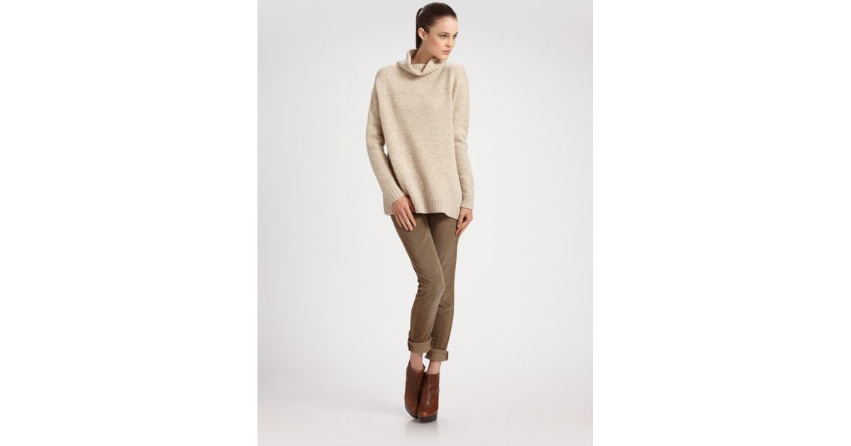 Vince Turtleneck Sweater in Natural   Lyst