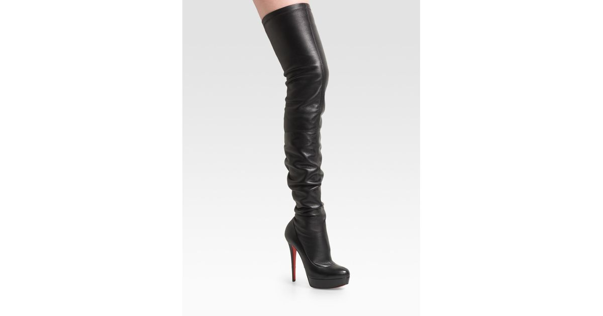 ce437dd087a Lyst - Christian Louboutin Gazolina Over-the-knee Boots in Black