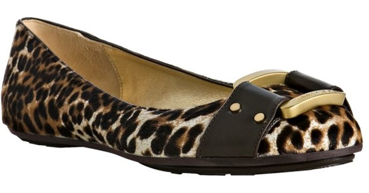 7189af5c7238 Lyst - Jimmy Choo Brown Leopard Pony Hair Morse Flats in Brown