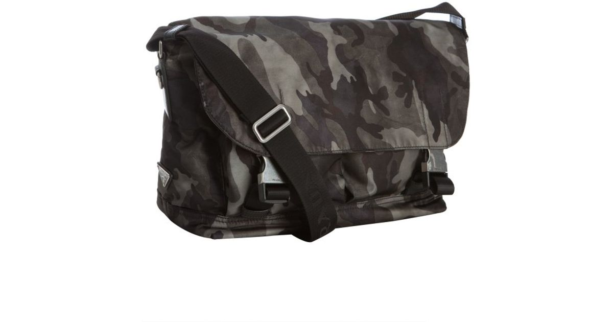 3c6eb0594cd57 ... switzerland lyst prada smoke camouflage nylon messenger bag in gray for  men fd5ee f5a4a