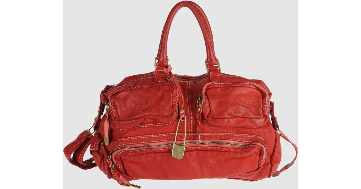 11fece42d6dc7 Lyst - Sissi Rossi Large Leather Bag in Red