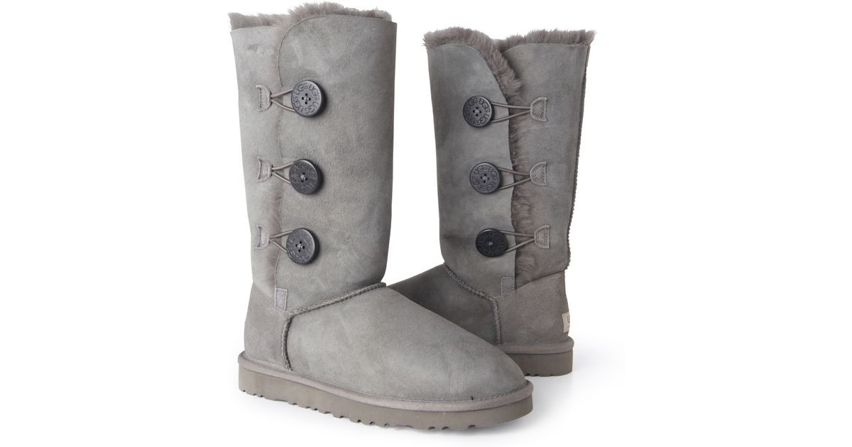 gray uggs with buttons