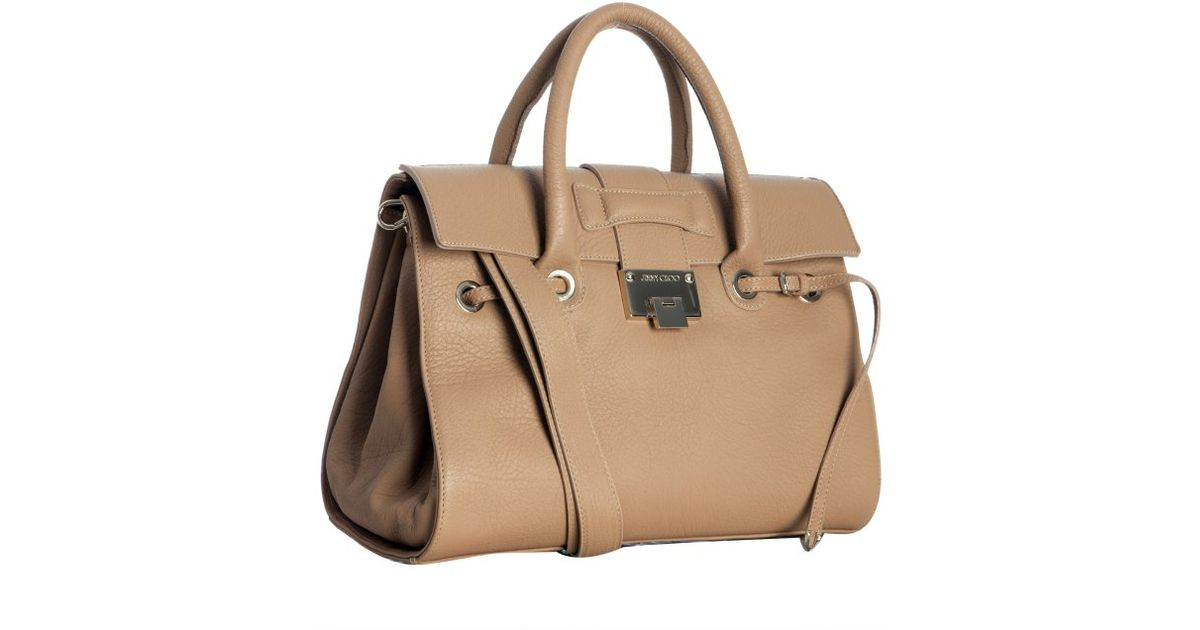 59356e97bcee Jimmy Choo Rosalie Tote in Natural - Lyst