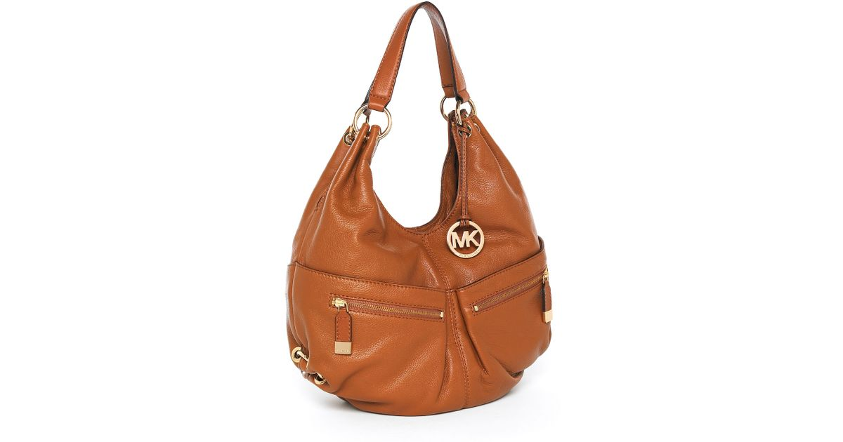 b46b8fe77d41 Lyst - Michael Kors Michael Layton Large Shoulder Tote Luggage in Brown