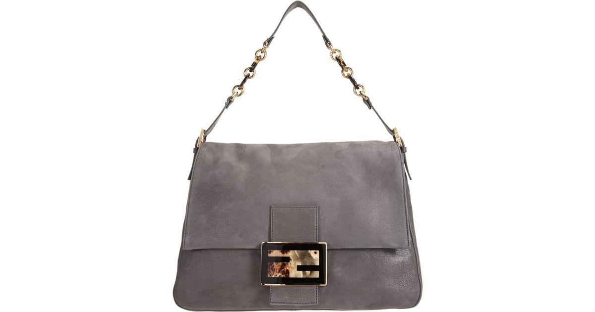 ecb5838c6b82 Fendi Forever Big Mama Shoulder Bag in Gray - Lyst