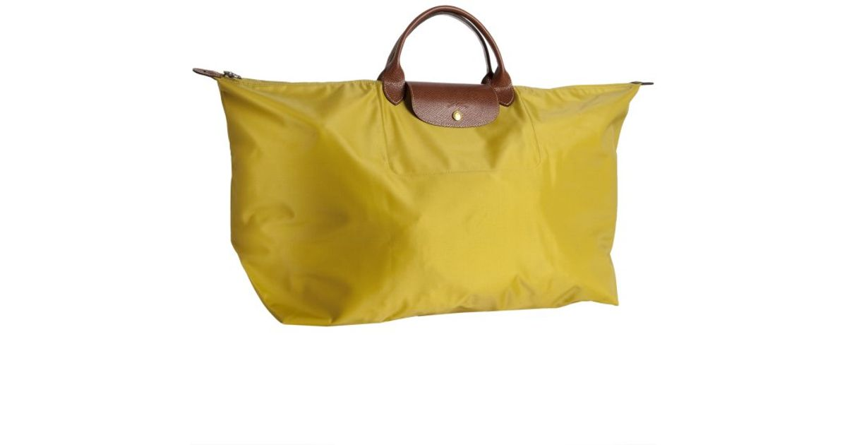 Lyst - Longchamp Curry Nylon Le Pliage Extra Large Folding Tote in Yellow