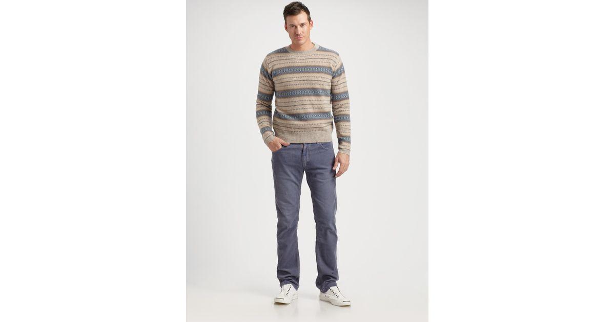 Lyst - Gant rugger Fair Isle Sweater in Brown for Men