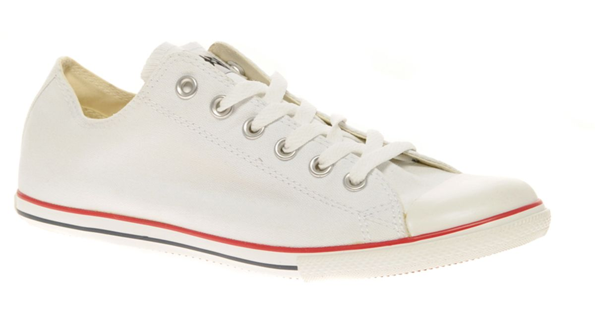 Lyst - Converse All Star Slim Plimsolls in White for Men 3ae7a5a68