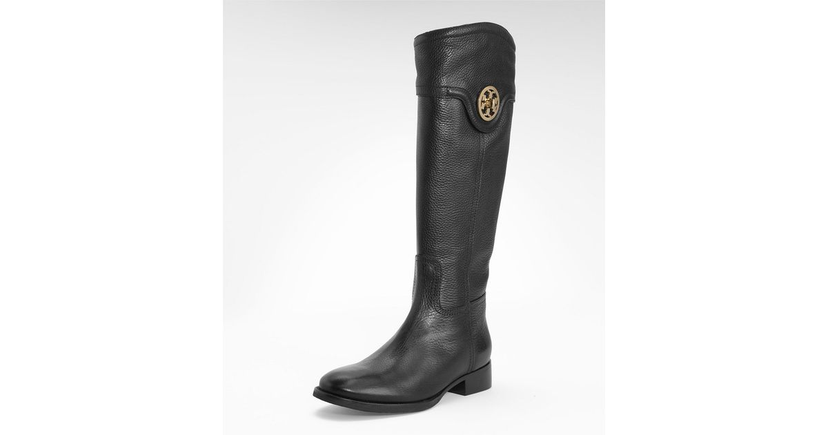 13f005525b64 Tory Burch Selma Riding Boot in Black - Lyst