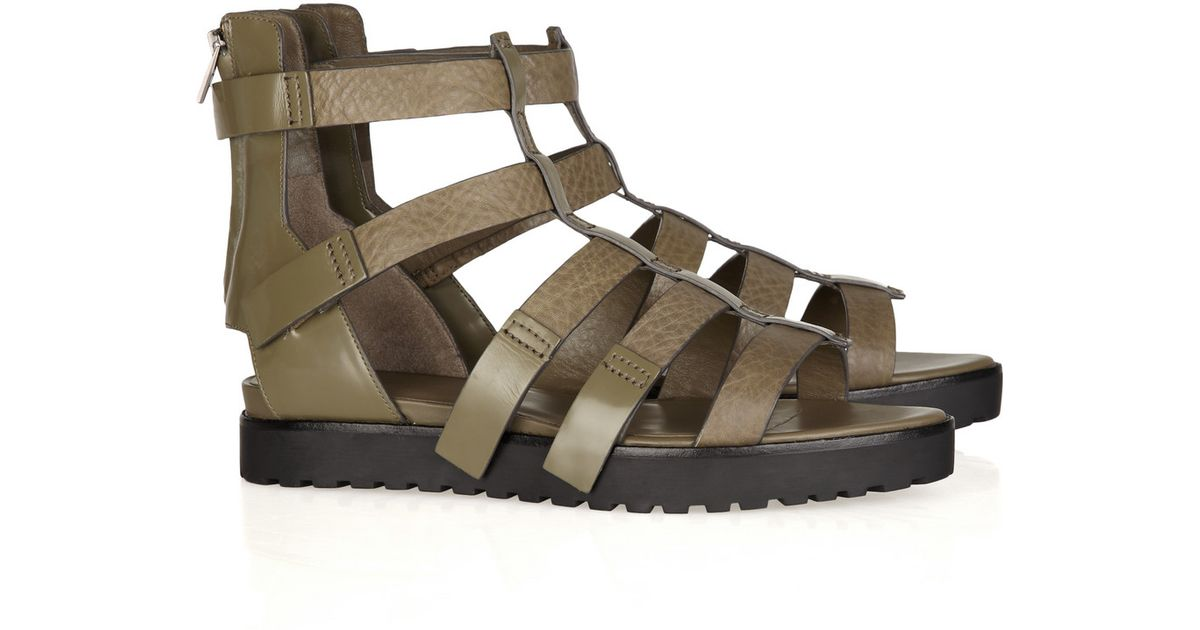 51c6276a087 Lyst - Alexander Wang Saskia Leather Gladiator Sandals in Metallic