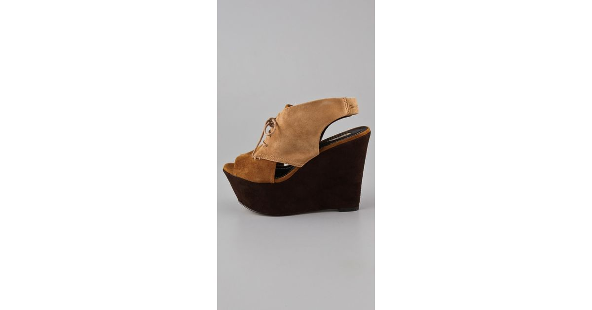 abf31000e0 Lyst - Report Signature Malverne Platform Wedges in Brown