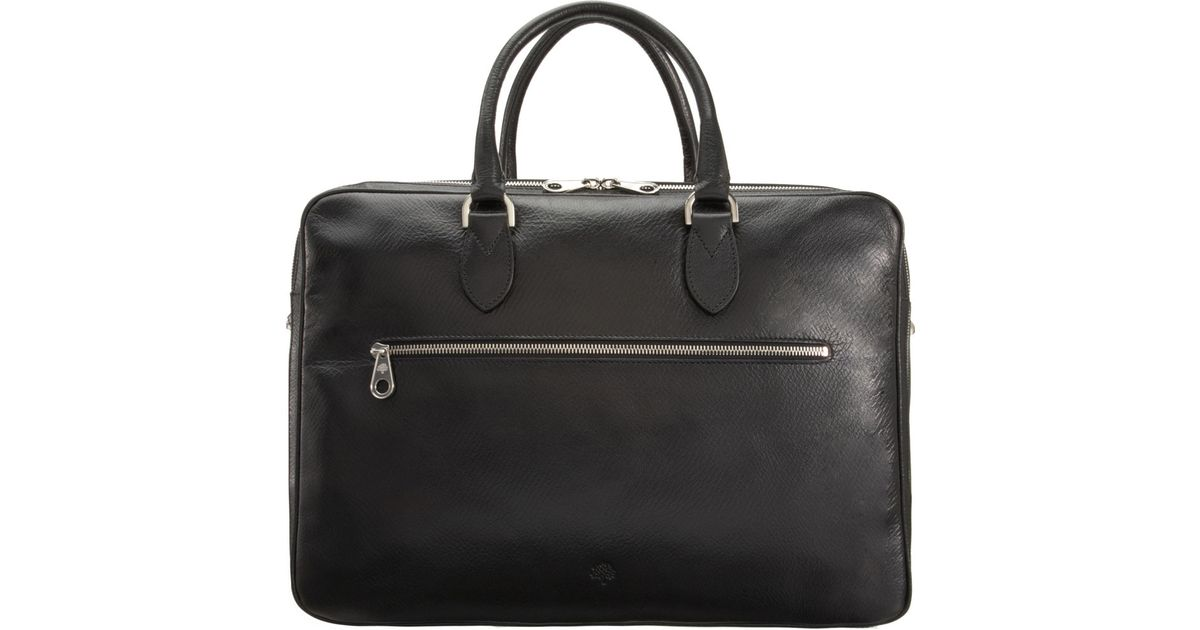 586325d47a622 Mulberry Heathcliffe Briefcase in Black for Men - Lyst