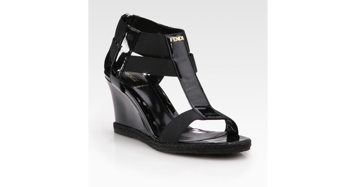 Fendi Leather Wedge Sandals with paypal sale online buy cheap wholesale price outlet best place Jew9ss2D