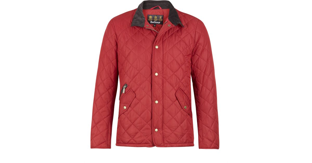 Lyst Barbour Red Chelsea Sportsquilt Jacket In Red For Men