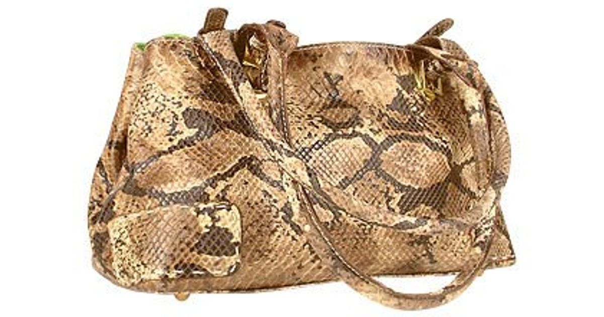 Fontanelli - Multicolor Two-in-one Python Stamped Leather & Lime Suede  Satchel Bag - Lyst