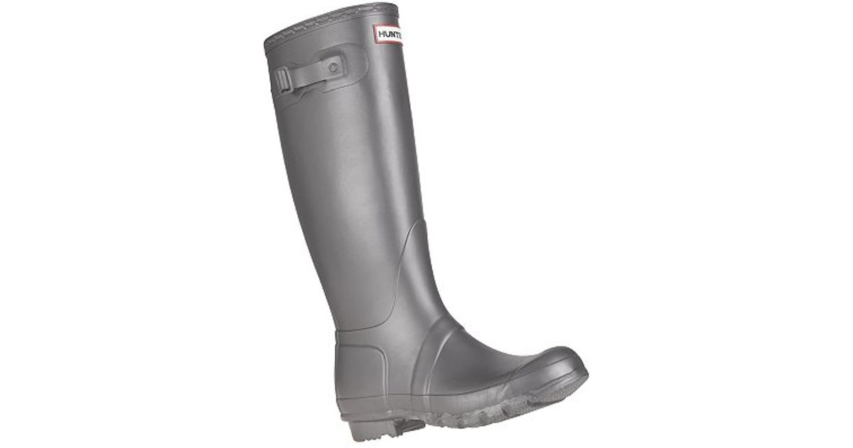 quality design d269e 949b7 HUNTER - Gray Original Metallics Wellington Boots Pewter - Lyst