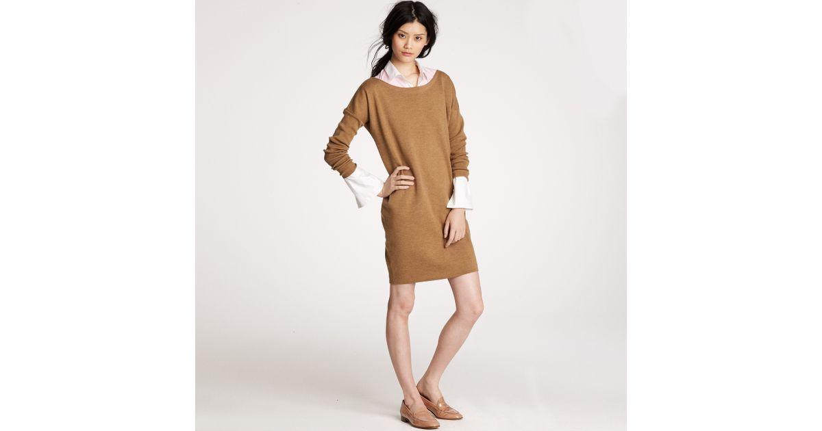 Lyst - J.Crew Dolman-sleeve Sweater-dress in Brown