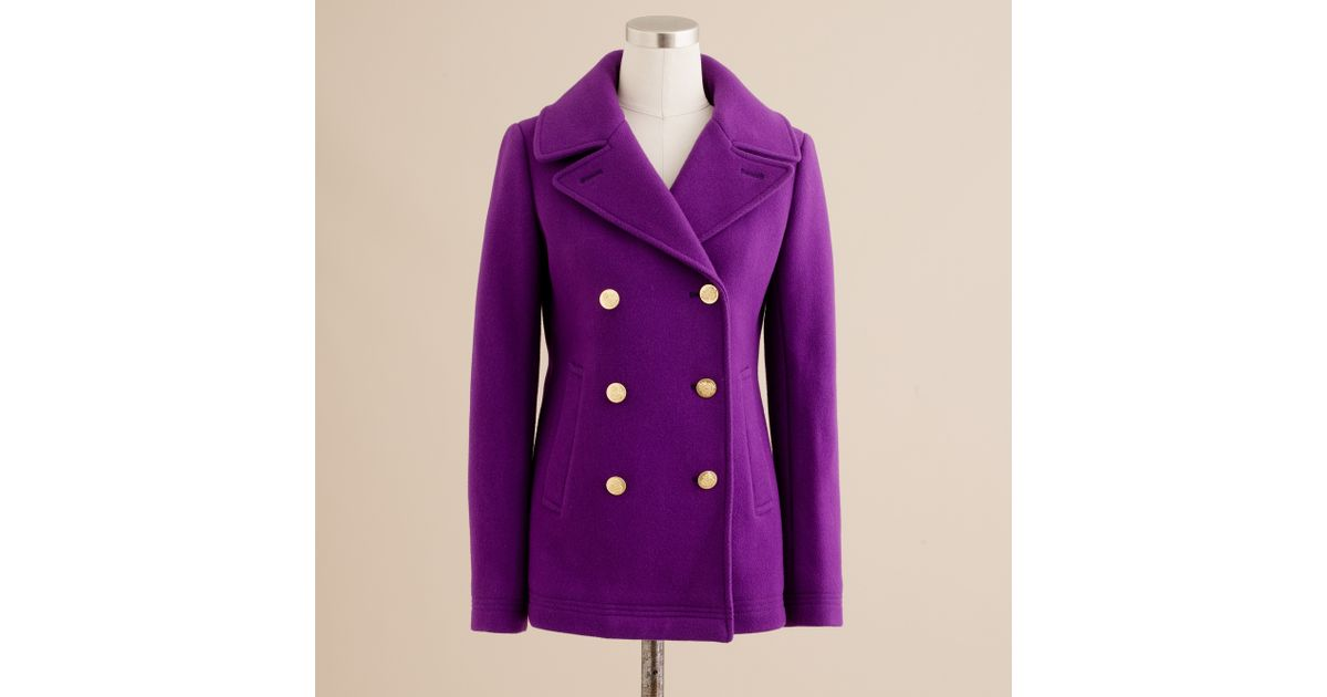 J.crew Majesty Peacoat in Purple | Lyst