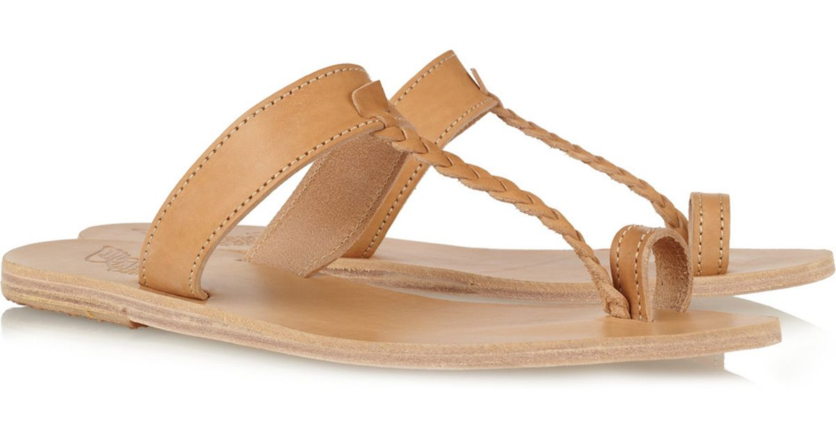 5d55d7295fc7 Lyst - Ancient Greek Sandals Melpomeni Braided Leather Sandals in Natural