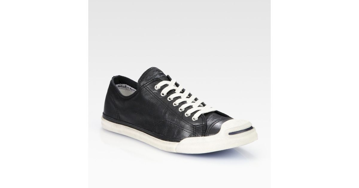 55fdd3efe4c0 Lyst - Converse Jack Purcell Leather Oxford Sneakers in Black for Men