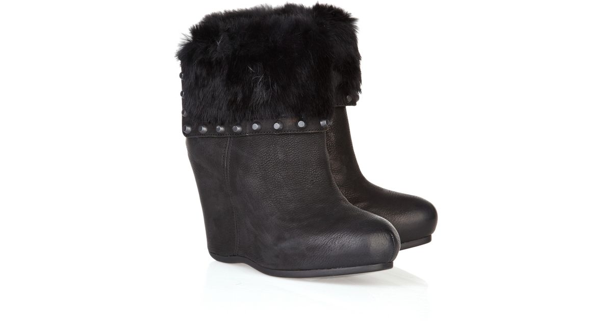 free shipping Cheapest cheap sale perfect Ash Fur-Trimmed Wedge Mid-Calf Boots Y3NoDENc