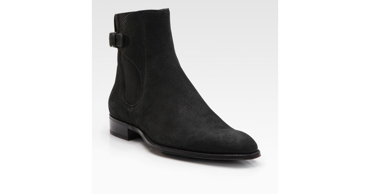 1943ce1949ff Lyst - Dior Homme Buffalo Leather Ankle Boots in Black for Men