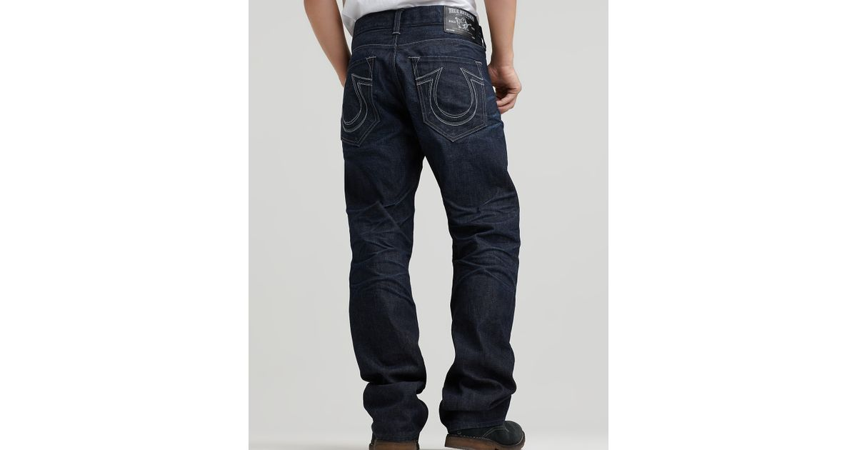 4e9a94ae5 Ash True Religion Ricky Straight Leg Jean in Nashville Wash in Blue for Men  - Lyst