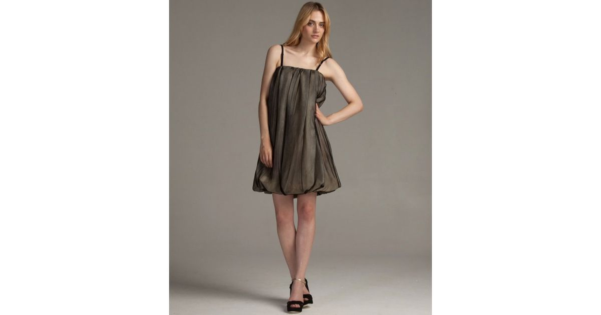 17bf82256748 Lyst - Dolce & Gabbana Black Silk Mesh Convertible Strapless Bubble Dress  in Black