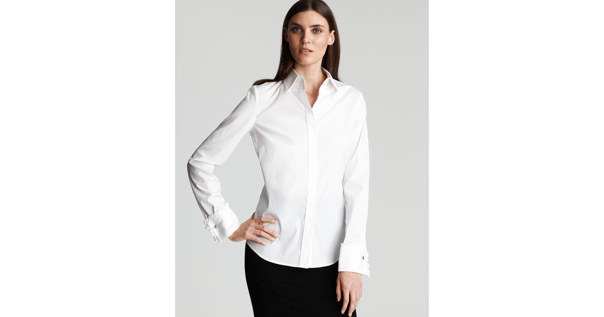 312c2653c39c1 Lyst - DKNY Silk cashmere Long-sleeve Cozy