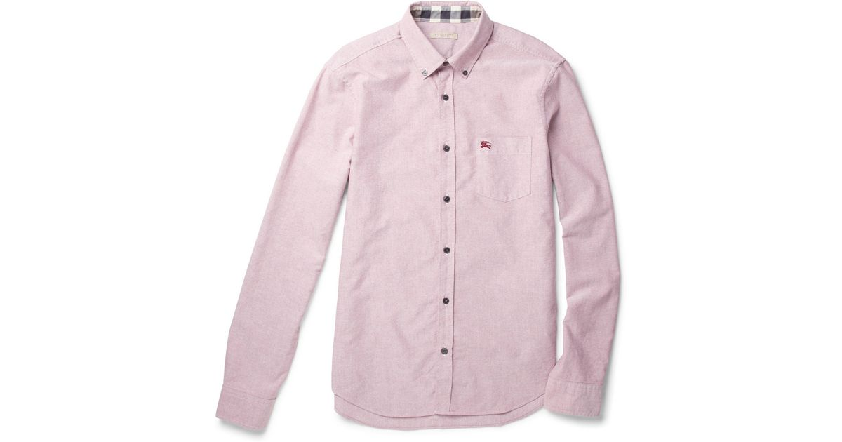 480e6ccd8001 Lyst - Burberry Brit Fred Cotton Oxford Shirt in Pink for Men
