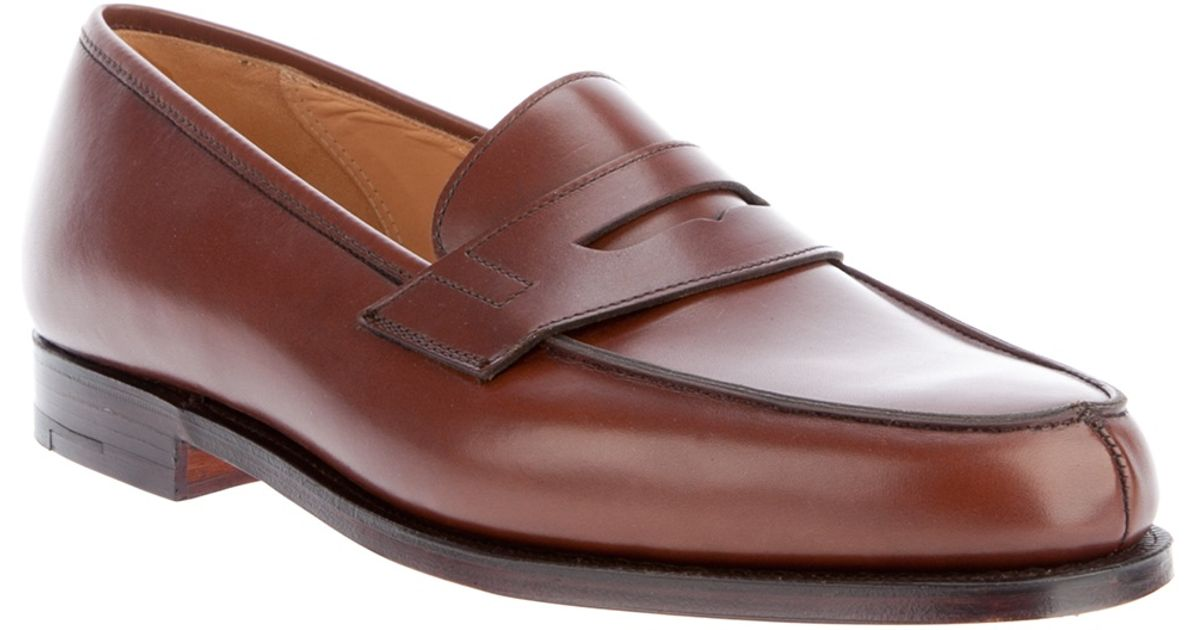414251f280b Crockett and Jones Lincoln Penny Loafer in Brown for Men - Lyst