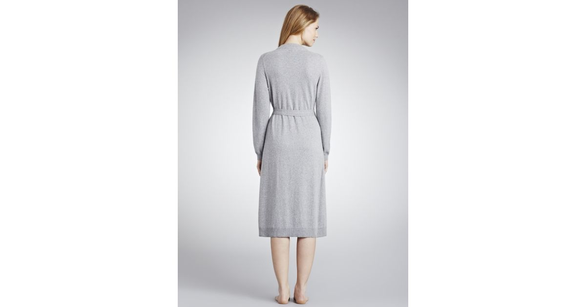 John Lewis Cashmere Dressing Gown in Gray - Lyst