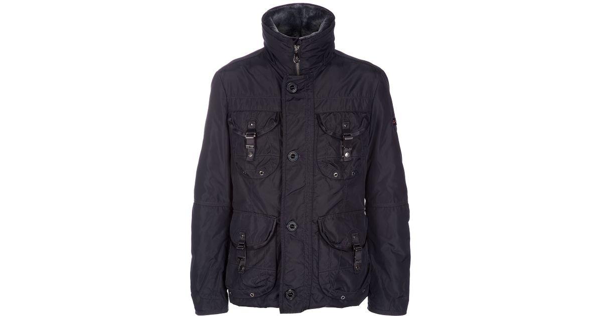 finest selection 06405 1c40d Peuterey - Black Miro Coat for Men - Lyst