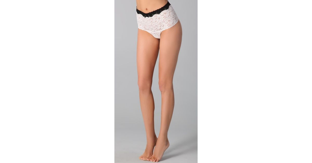 0a690ad1a Lyst - Hanky Panky Contrast Retro Thong in White