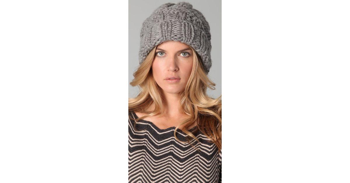 d018428ab48c7 Lyst - Eugenia Kim Marley Chunky Cuffed Slouchy Hat in Gray
