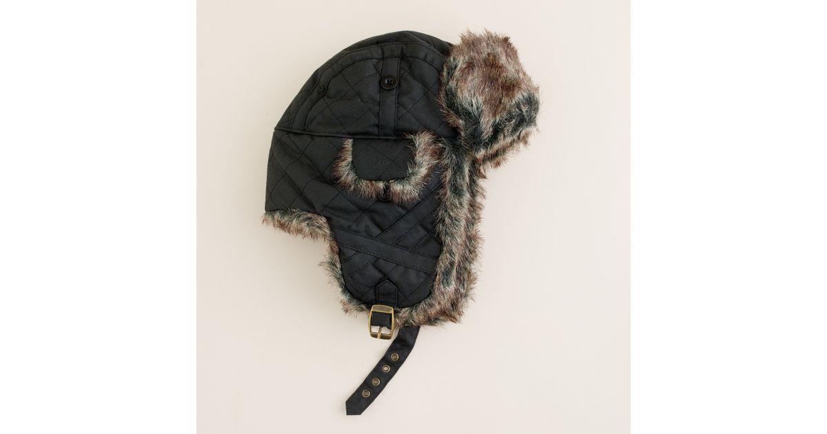 e3b8c324 Lyst - J.Crew Barbour® Trapper Hat in Black for Men
