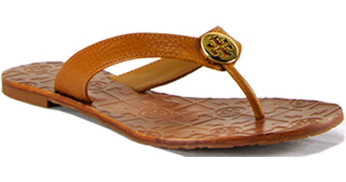 7dd24b24f Tory Burch Thora - Tan Leather Thong Sandal in Brown - Lyst