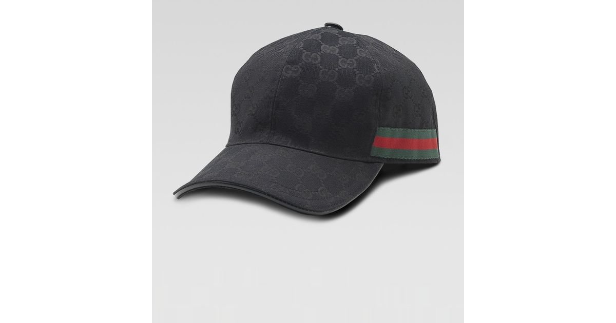 652b4ca7fb3 Lyst - Gucci Original GG Canvas Baseball Hat in Black for Men - Save 41%