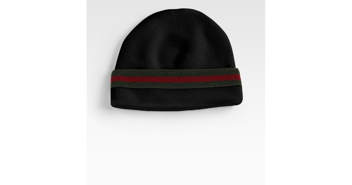 Lyst - Gucci Winter Cap in Black for Men 33ba4eaf543