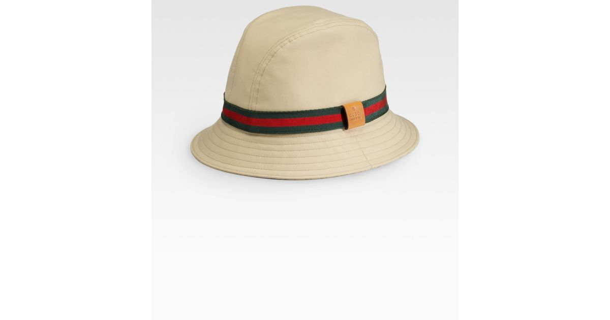 Lyst - Gucci Bucket Hat in Brown for Men 2c4e33163c2