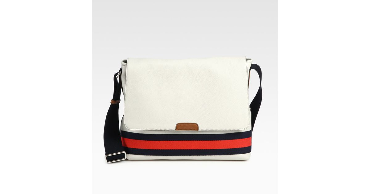 e184339debff Lyst - Gucci Messenger Bag in White for Men