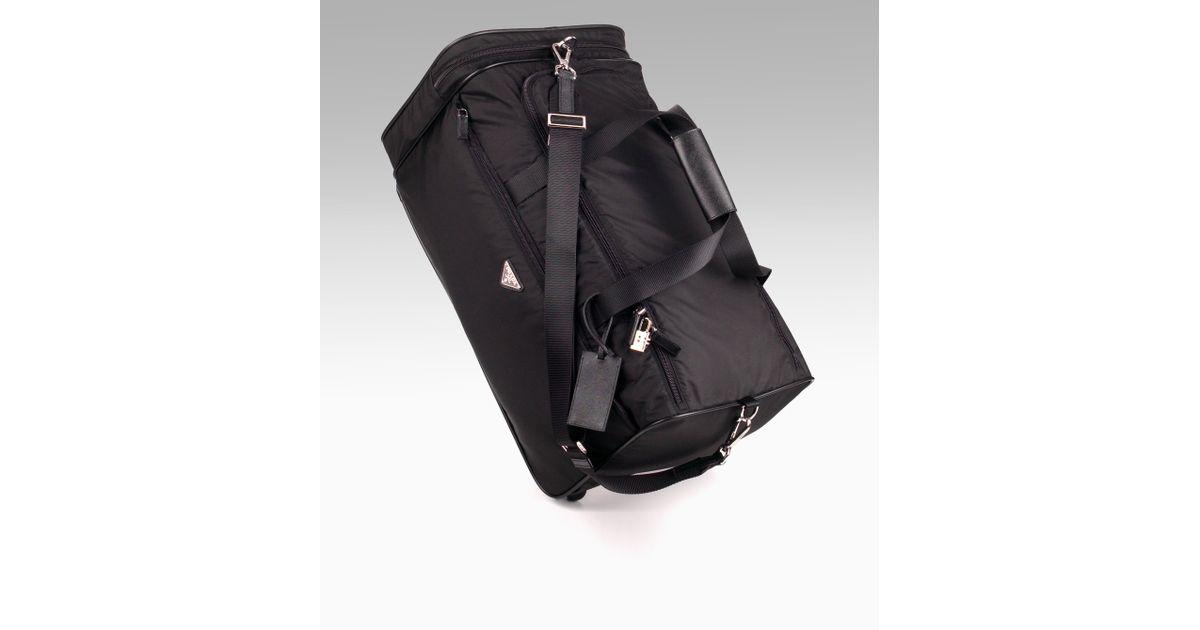 replica tote - prada nylon saffiano leather duffel, prada messager bag