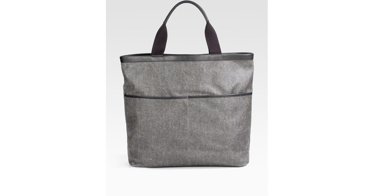 Lyst - Saks Fifth Avenue Nylon Bag in Gray for Men 3a655a663dc34