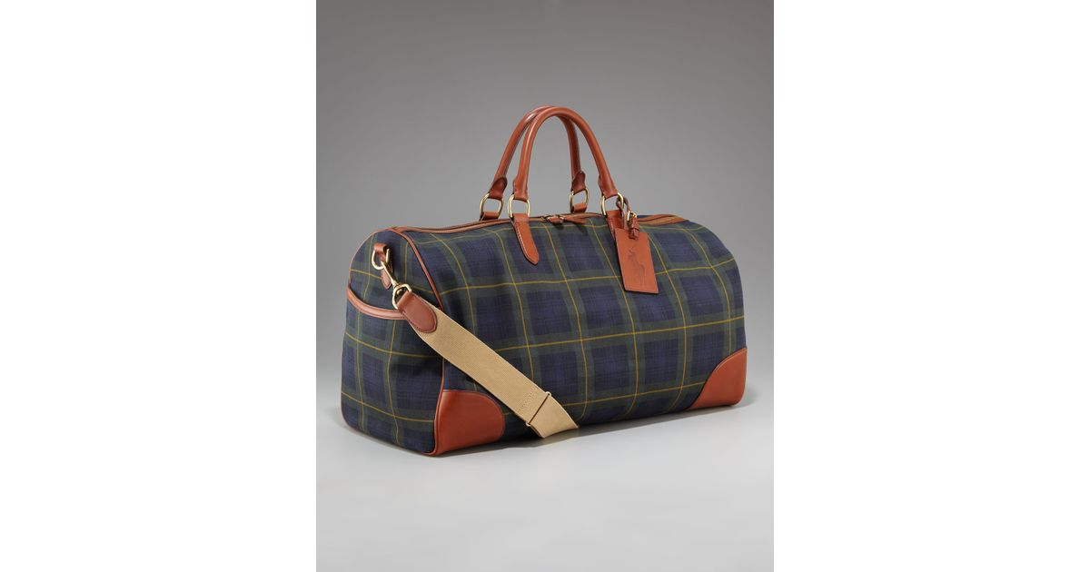Lyst - Ralph Lauren Rl Tartan Collection Plaid Duffel Bag for Men 3a9fd6c10cc7d
