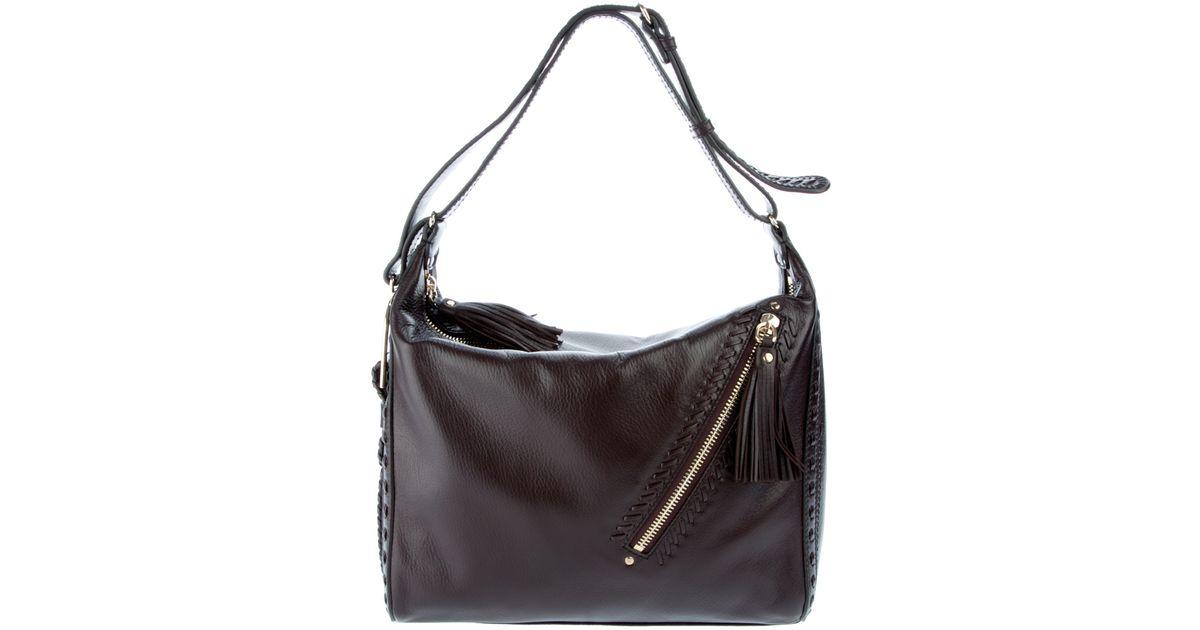 fd5bc03892 Jimmy Choo Lily Handbag in Brown - Lyst