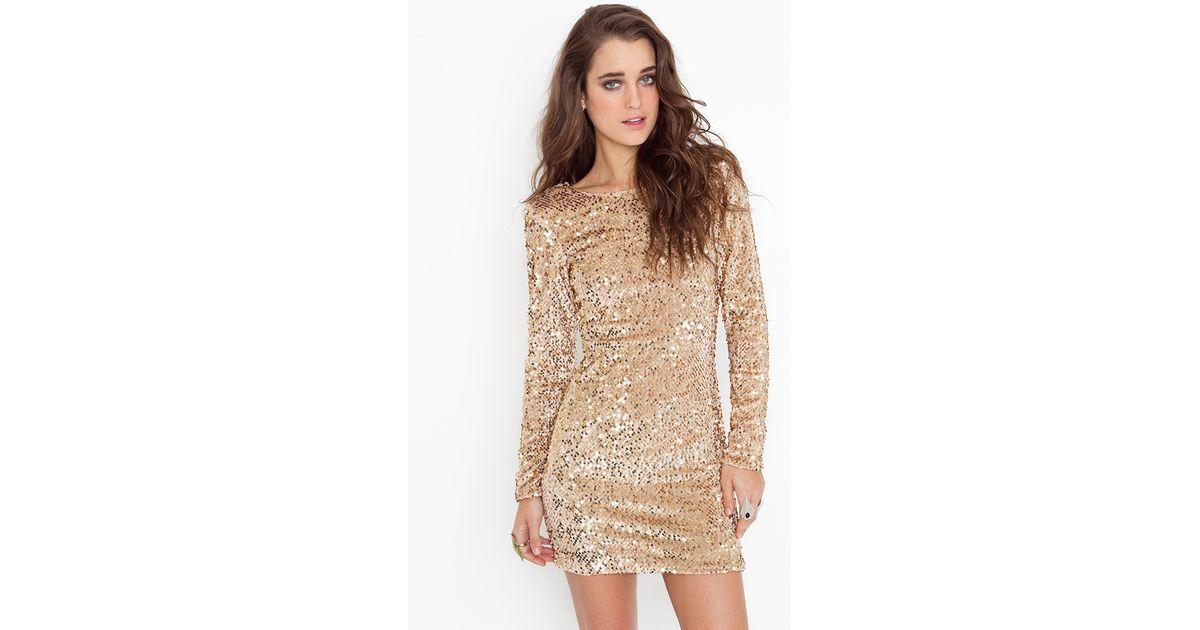 8601d3ceba Lyst - Nasty Gal Gabby Sequin Dress in Metallic