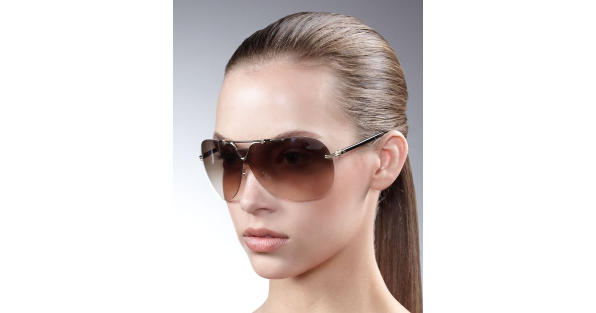 f64221d00c4b Lyst - Dior 57th Rimless Aviators in Black