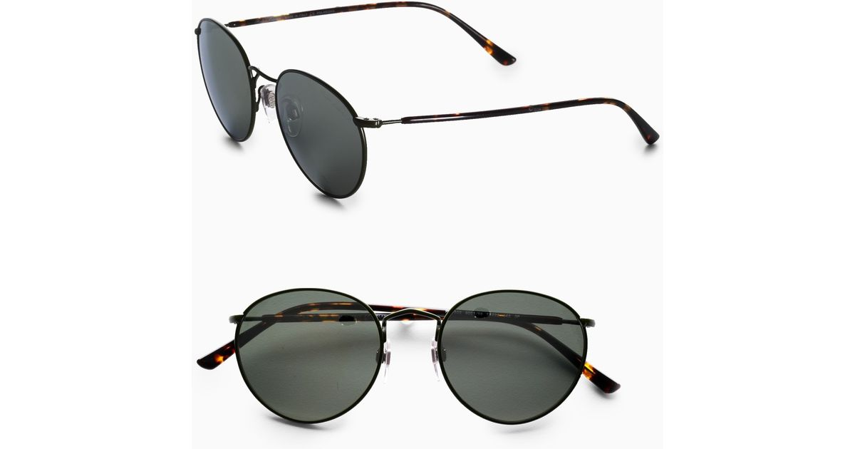 9d833c91bb ... new zealand lyst polo ralph lauren small round sunglasses green frames  in green for men f9060