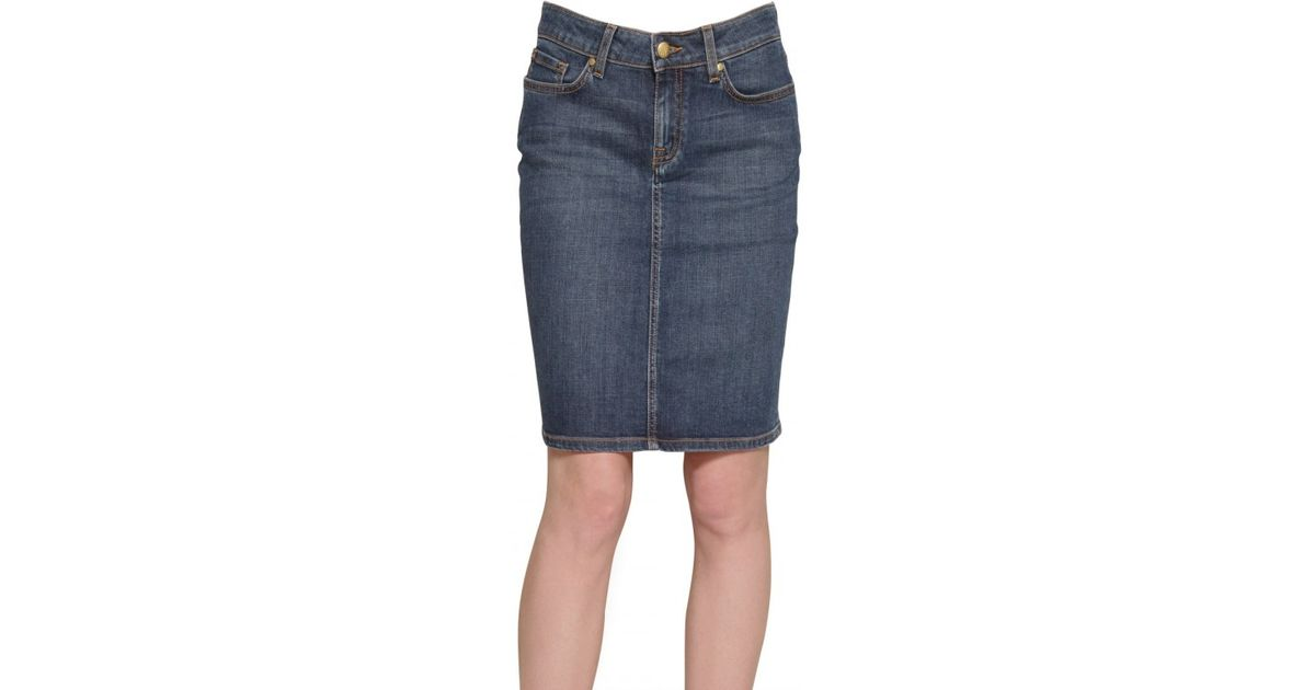 Tommy hilfiger Denim Stretch Skirt in Blue | Lyst