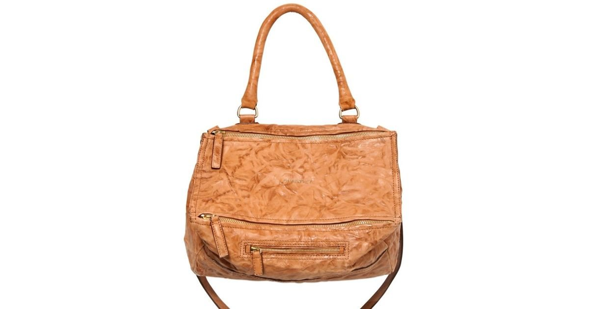 Lyst - Givenchy Pandora Medium Leather Shoulder Bag in Natural 8466f0c1f65db